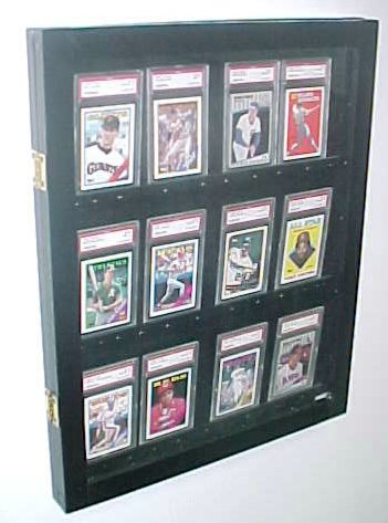 12 Graded card Baseball card displays case will hold 12 graded ...