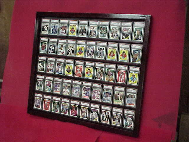 Black 50 Graded Card Baseball Card Displays Case Will Hold