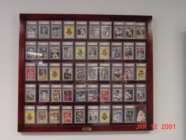 50 Graded Card Baseball Card Displays Case Will Hold 50